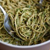 Spaghetti ao pesto