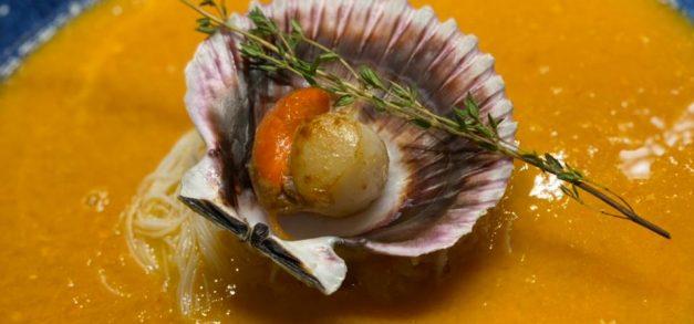 Vieira é uma das iguarias ofertadas no delivery do Sabores do Mar